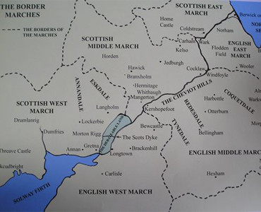 Map of the Border Marches