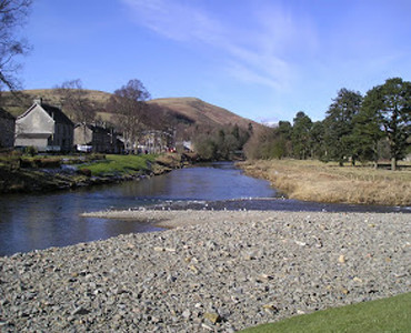 Confluence of the Rivers of Ewes and Esk at Langholm