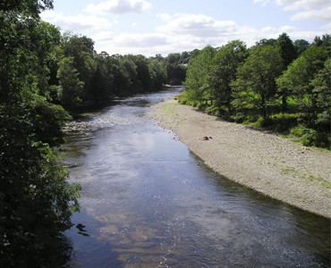 The River Esk at Canonbie